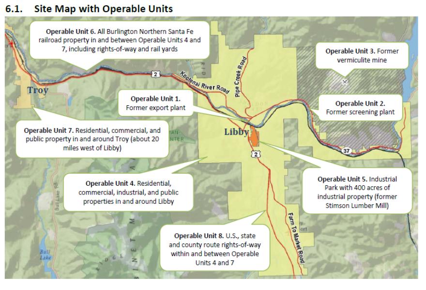 Libby Superfund map.