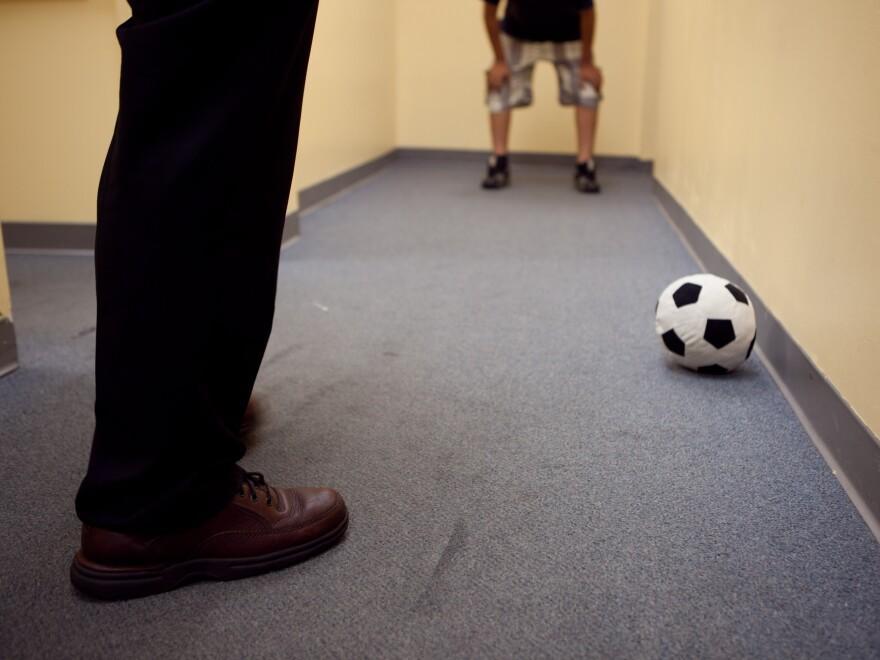 Using soccer to teach math.
