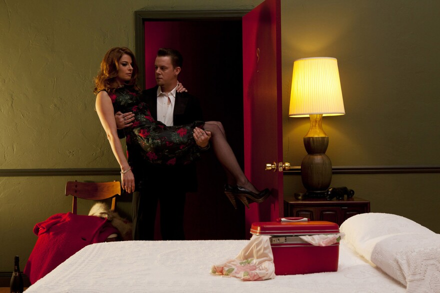 "Crush, 2011, 44"" x 65"" digital print on Somerset Velvet, edition # 2/3 Bruno David"