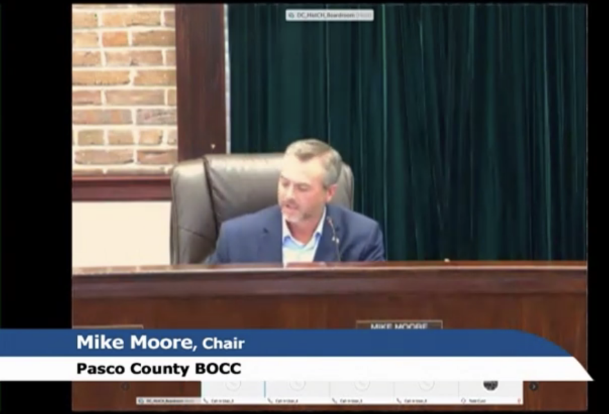 Pasco Board of County Commissioners Chairman Mike Moore invited local leaders to join a video discussion on what the next moves are for the coronavirus pandemic