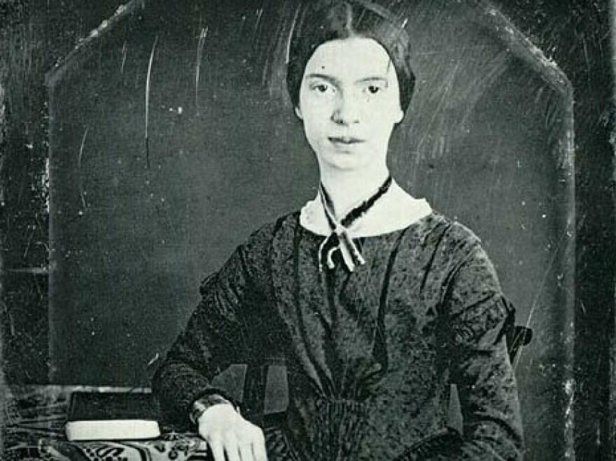 <p>A daguerreotype of Emily Dickinson, taken in 1846.</p>