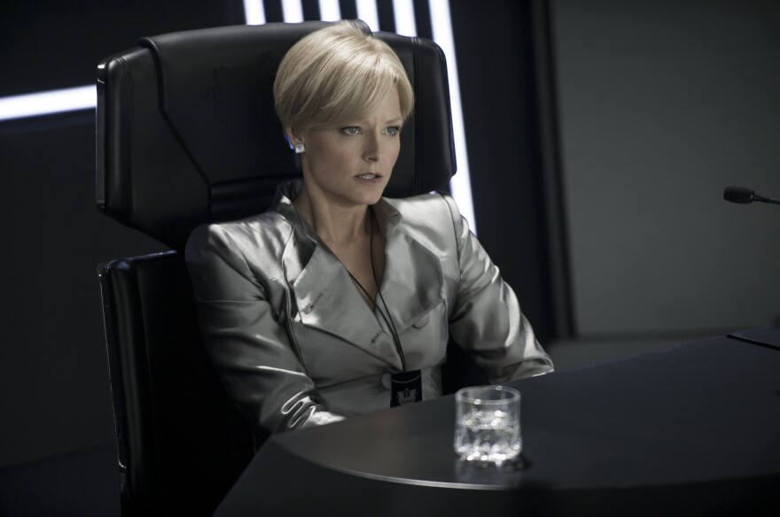 Jody Foster plays her political opposite as the brutal secretary of defense in <em>Elysium</em>.