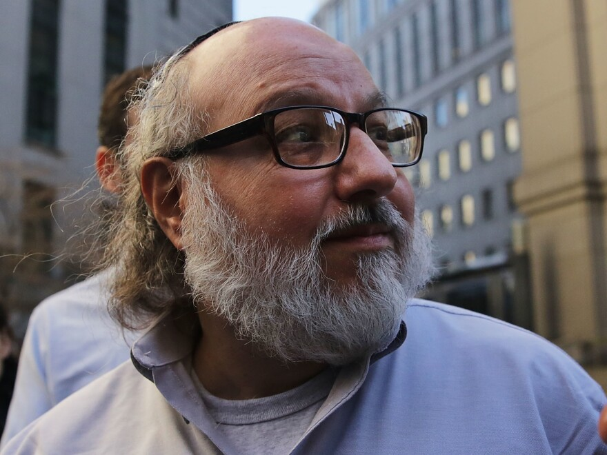 Jonathan Pollard, the American convicted of spying for Israel, leaves a New York courthouse following his release from prison in 2015. As of Friday, Pollard has completed the terms of his parole and is a free man.