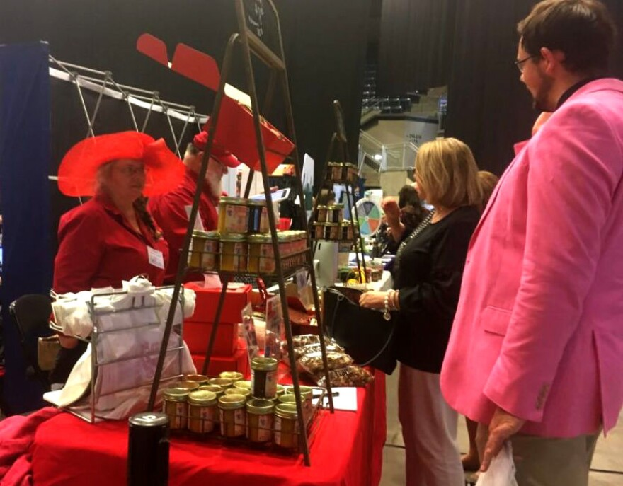 Joyce Pinson, of Friends Drift Inn Kitchen, displays jams and jellies.