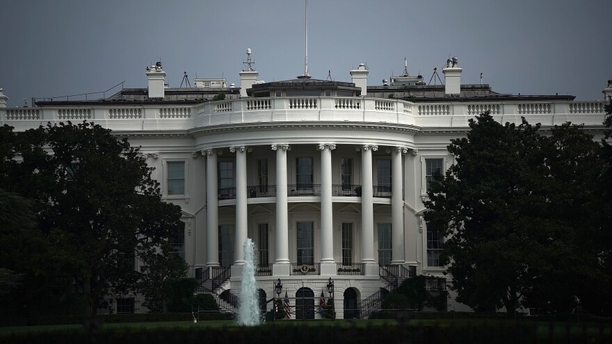 The White House on August 27, 2018, in Washington, D.C.