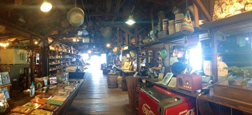 Inside Ted Smallwood's Store.