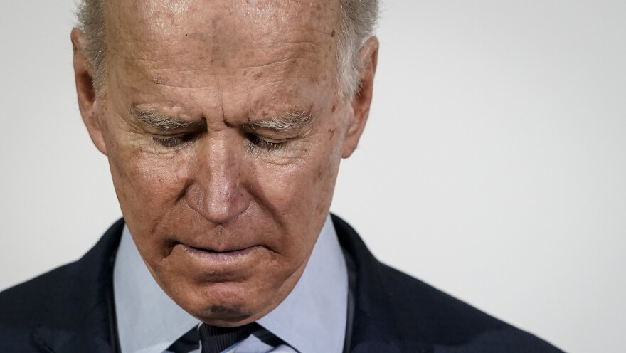 Democratic presidential candidate and former Vice President Joe Biden pauses while speaking after receiving an endorsement from Rep. James Clyburn earlier this week.