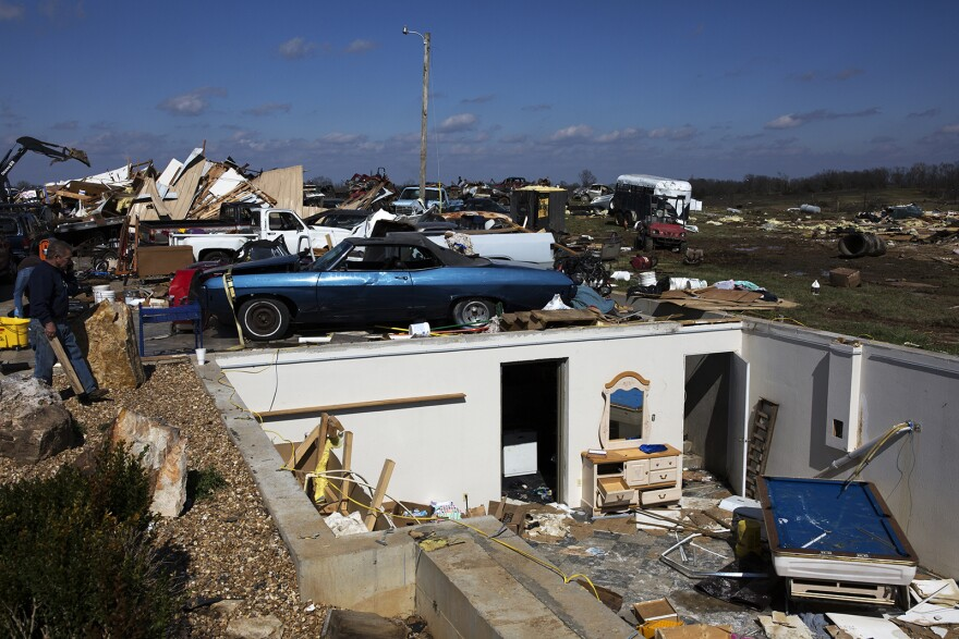 The Feb. 28 tornado killed one man and destroyed more than 100 Perryville area homes.