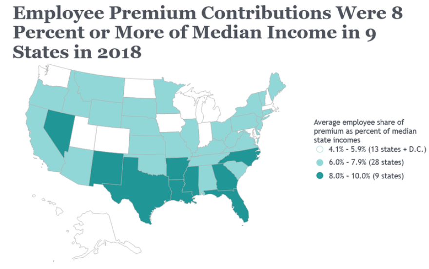 Workers and their families are spending more of their incomes on health care. CREDIT: THE COMMONWEALTH FUND