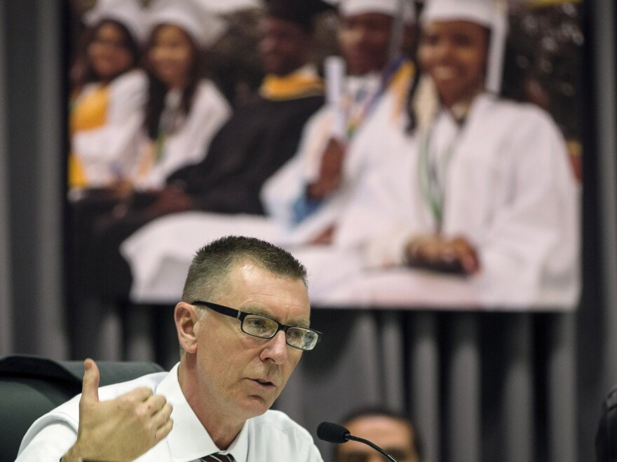 """Los Angeles Unified School District Superintendent John Deasy, seen in a photo taken last year, says his resignation Thursday was """"by mutual agreement."""""""