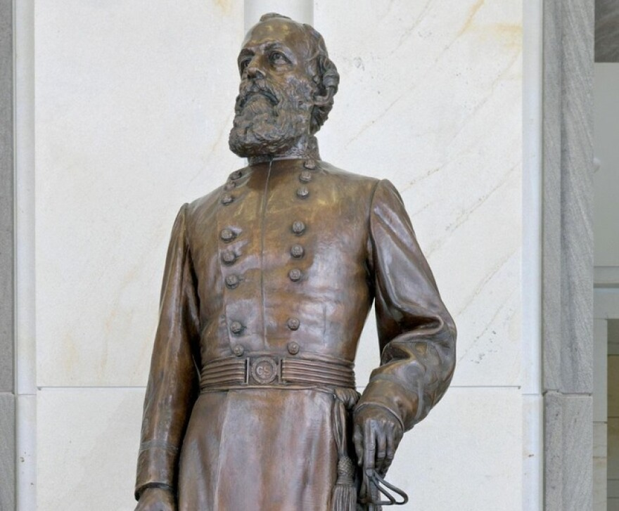 The statue of Confederate General Edmund Kirby Smith currently in National Statuary Hall in the U.S. Capitol.