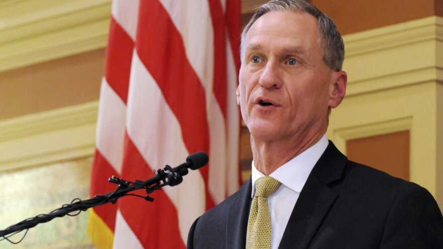 South Dakota Gov. Dennis Daugaard vetoed a bill that would have required transgender students in public schools to use bathrooms based on their gender at birth.