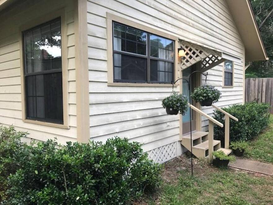 """Listed as """"The Cottage at our Riverside Retreat,"""" this Jacksonville property is included in Airbnb.com's Disaster Response Program."""