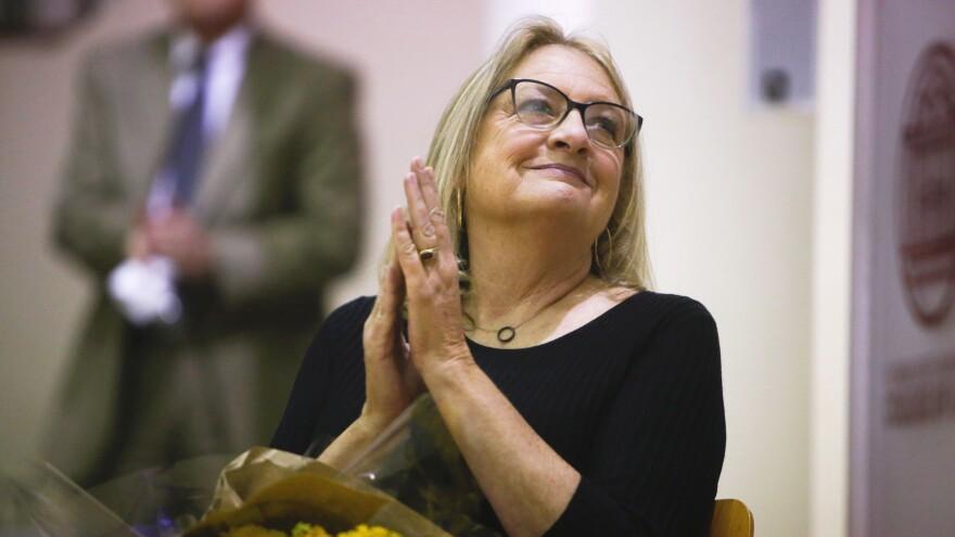 Barbara Petersen smiling