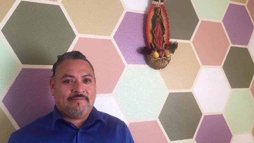 Javier Dominguez at his home in Dillon, Colo. Dominguez is appealing his deportation orders and has to travel over the mountains to immigration court in Denver for his hearings.