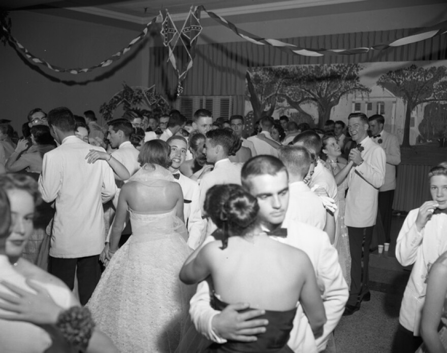 Couples dance at Leon High's Confederate Ball in 1956.