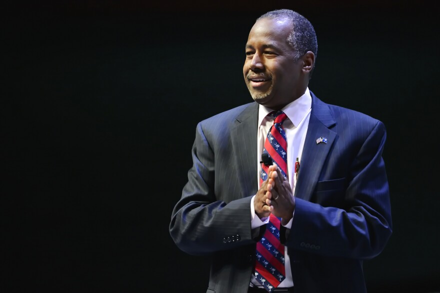 Republican presidential candidate Ben Carson speaks at a presidential forum in Greenville, S.C., in September.