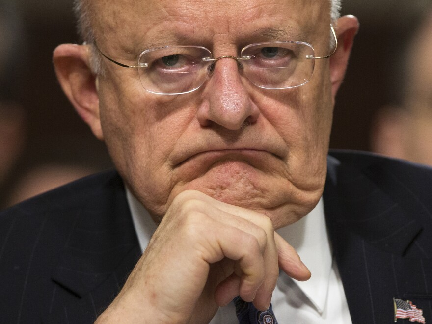 Director of National Intelligence James Clapper testifies Tuesday before a Senate Armed Services Committee hearing on worldwide threats.