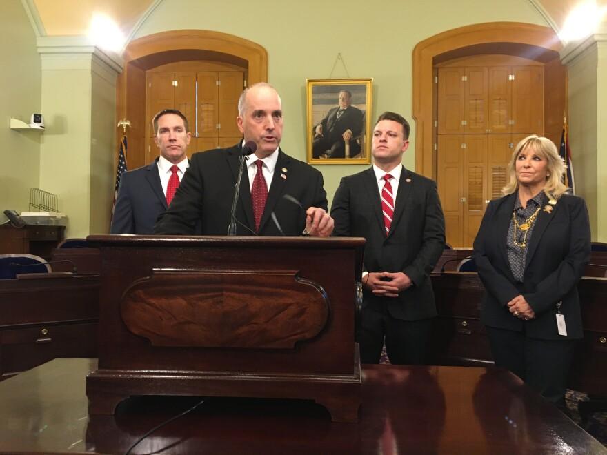 a photo of state legislators