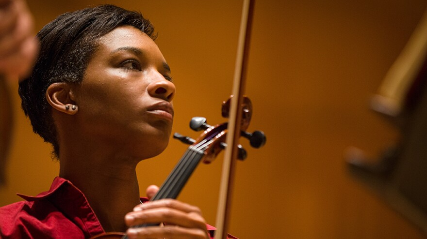 Tanesha Mitchell, one of 80 amateur musicians who participated in the Baltimore Symphony Orchestra's Academy Week, describes the experience as life-changing.