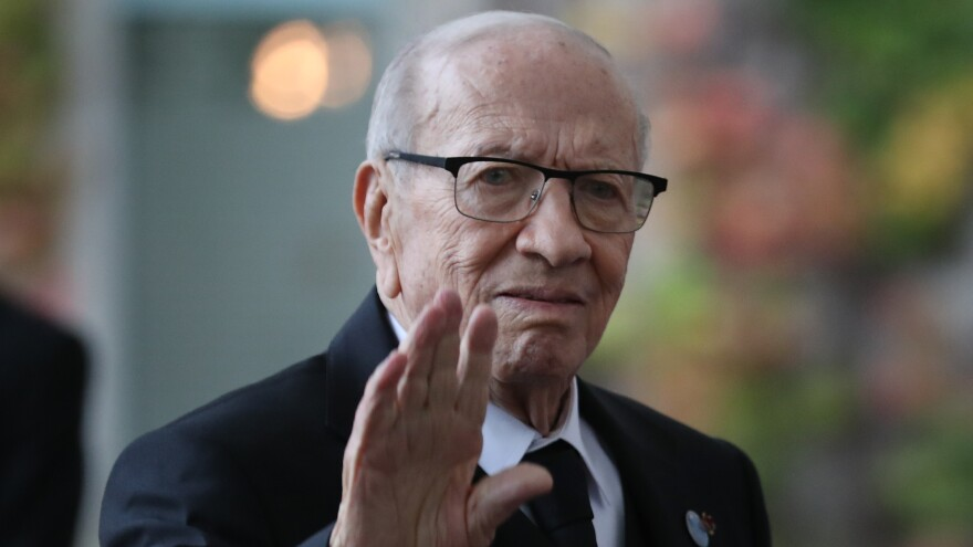 Beji Caid Essebsi, the president of Tunisia, has died. He was elected in 2014 following the Arab Spring uprising.