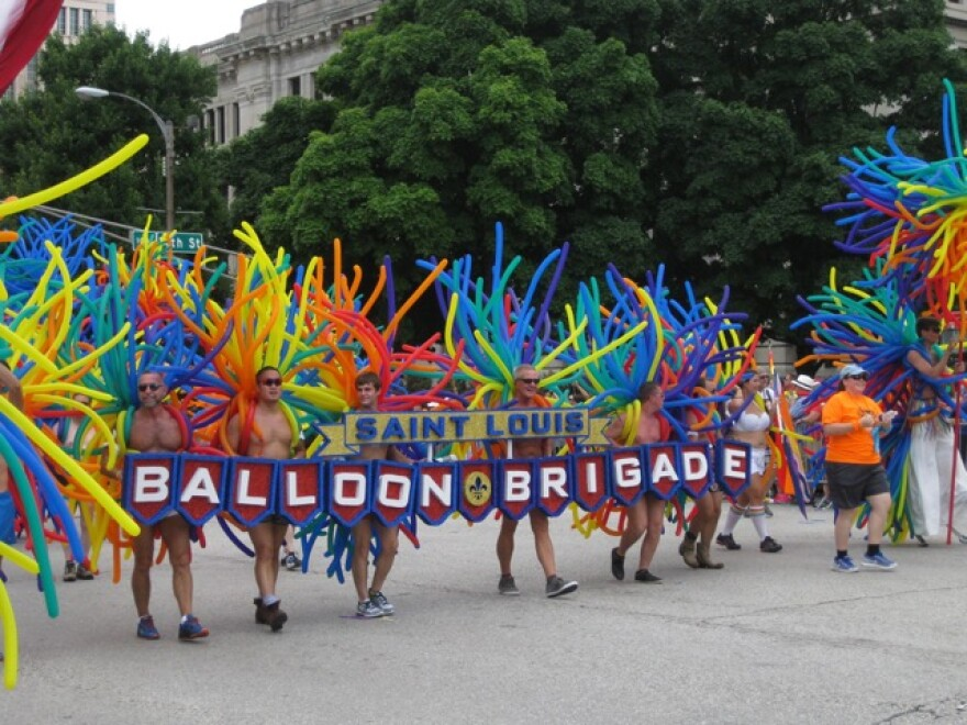 The Balloon Brigade at a previous PrideFest St. Louis