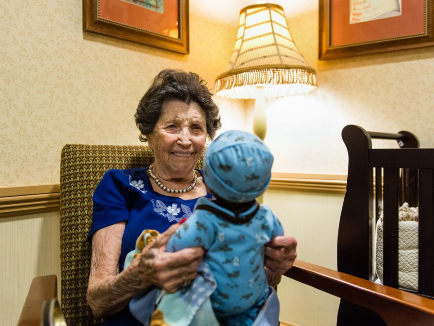 """When asked what she likes about the dolls, Guzofsky says, """"I love babies."""""""