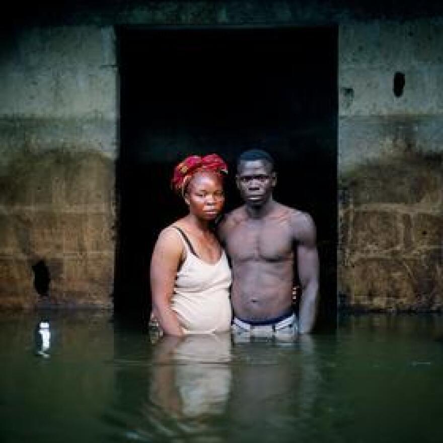 Victor and Hope America Igbogene, Bayelsa State, Nigeria, November 2012.