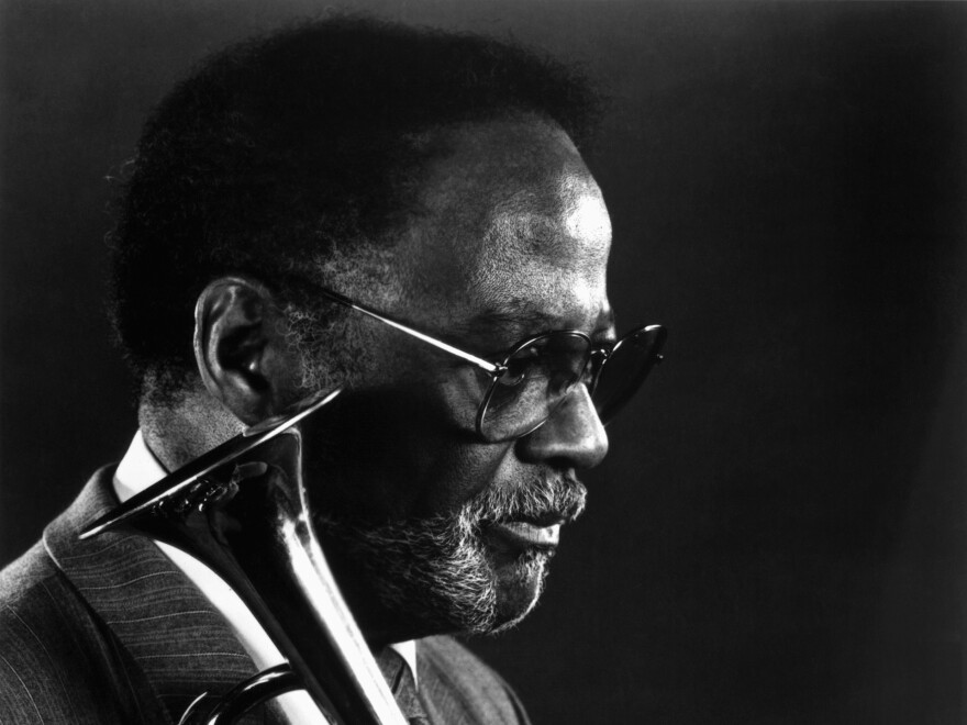 Trumpeter Clark Terry in 1991. Terry's wife announced Saturday that he had died at age 94.