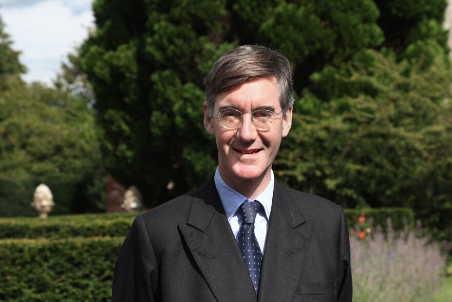 Conservative Party politician Jacob Rees-Mogg stands in the garden of his mansion in the west of England. Known for his posh, upper-class traits, Rees-Mogg has become an unlikely hit on social media.