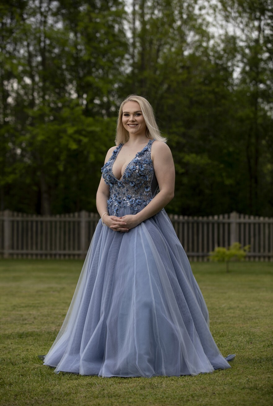 """""""I think my prom song would have to be 'Dancing Queen.' I love that song so much. It's my favorite song that they play at dances and everybody knows all the words. So it just gets really, like, exciting and loud and it's awesome."""" — Madison Greene, 18, Elizabeth Seton High School in Bladensburg, Md."""