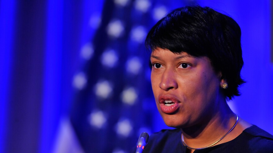 Washington, D.C., Mayor Muriel Bowser last month.