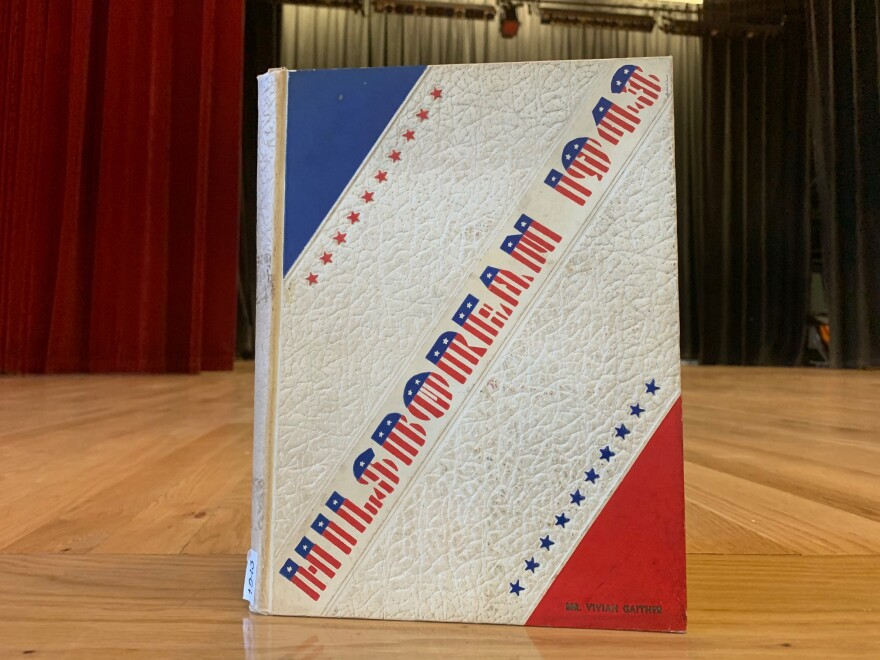 A copy of Hillsborough High School's Class of 1943 yearbook, which is filled with references to World War II.