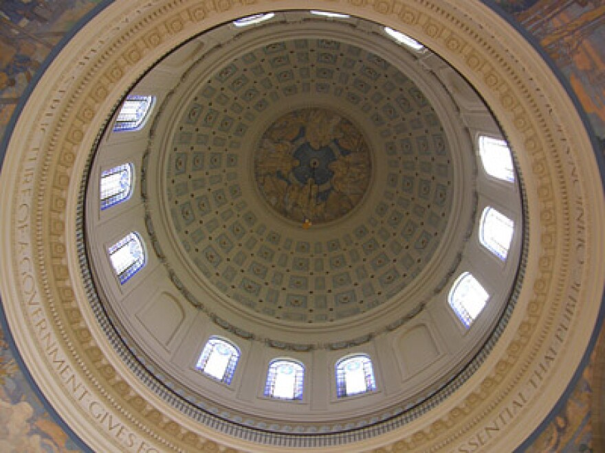 The dome of the Missouri Capitol.
