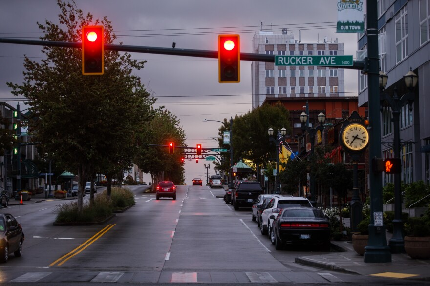 Downtown Everett, Wash., the seat of Snohomish County. The county has declared the opioid epidemic a life-threatening emergency and the county is now responding to the drug crisis as if it were a natural disaster.