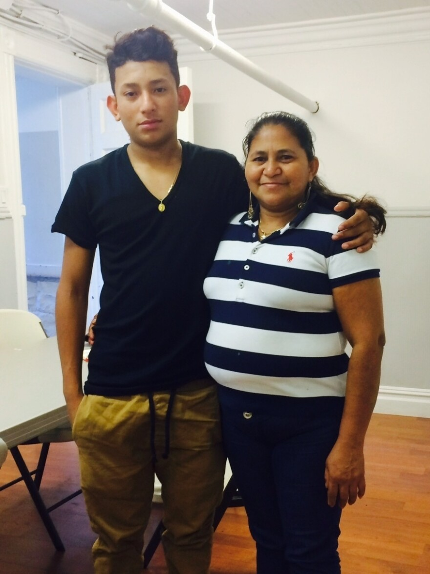 Henry Gomez with his mother, Rosa.