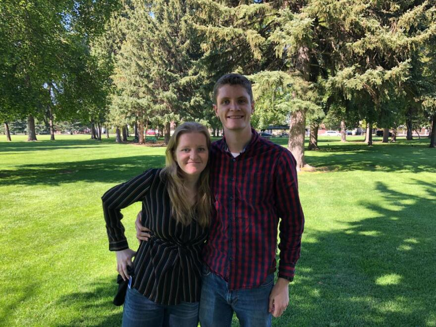 Ellie and Tanner Boyack are also BYU-Idaho students and Latter-day Saints. Tanner is a lifelong Republican, but doesn't always agree with President Trump's attitude.