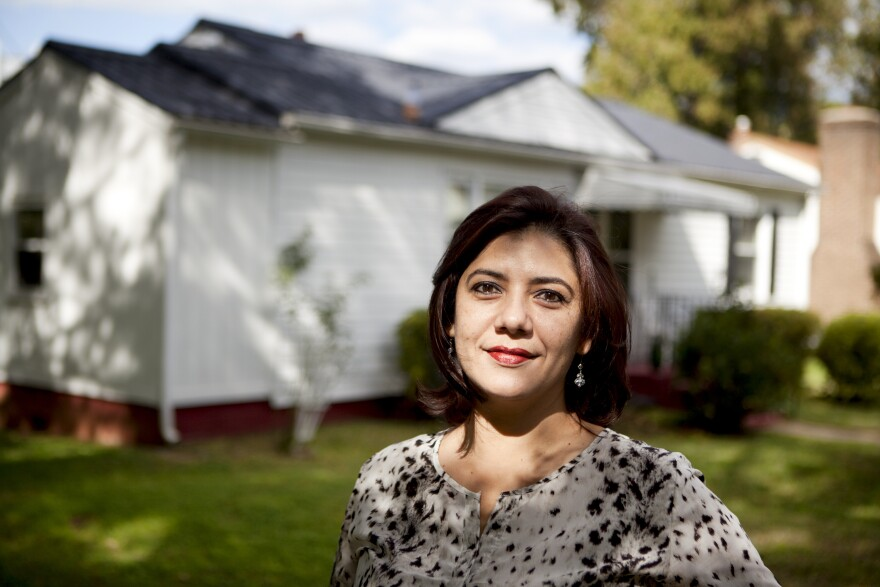 Originally from Peru, Milagritos Aguilar is the manager and owner of Royal Roofing LLC., a roofing and solar panel company. She used to live in Pennsylvania and says the recession brought her to Charlotte in 2008.