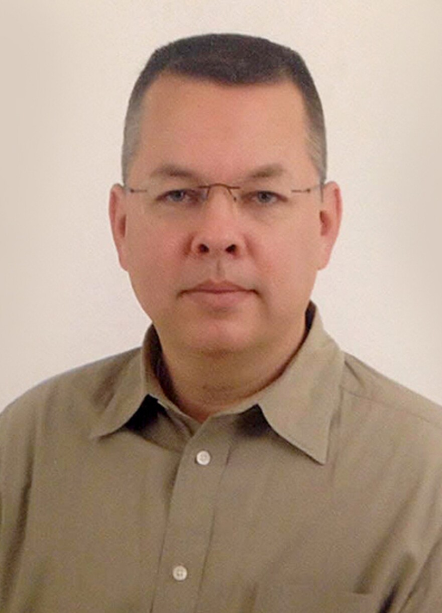 "Andrew Brunson, from North Carolina, is in a Turkish prison on terrorism charges that his family calls ""totally false."""