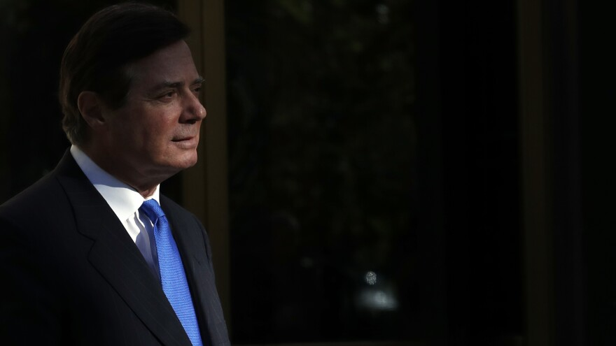 Paul Manafort leaves Federal District Court in Washington on Monday.