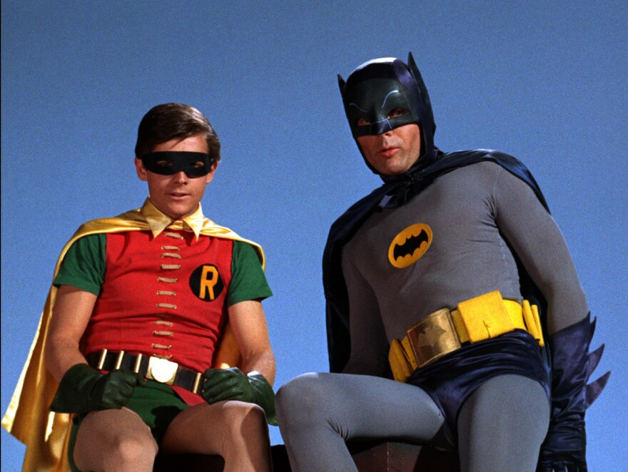 Burt Ward was Robin and Adam West was Batman in the TV show that was played for laughs.
