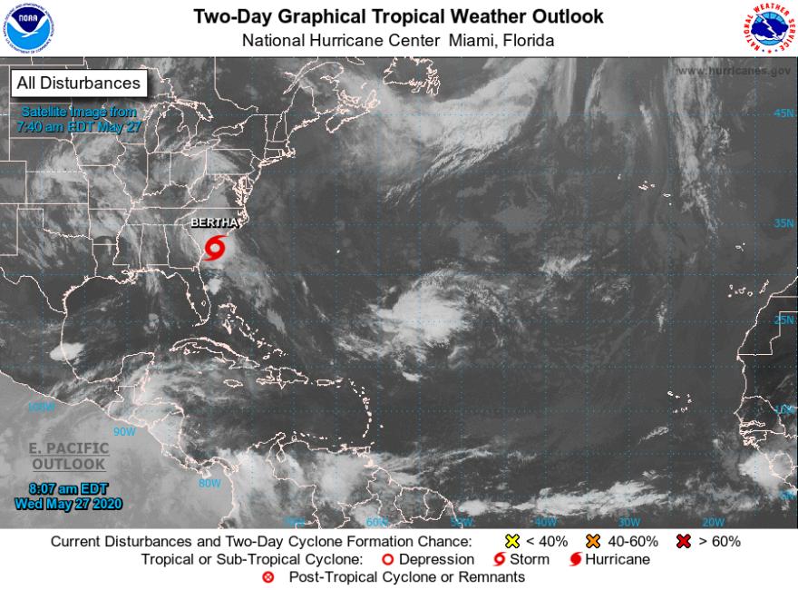 Tropical Storm Bertha satellite