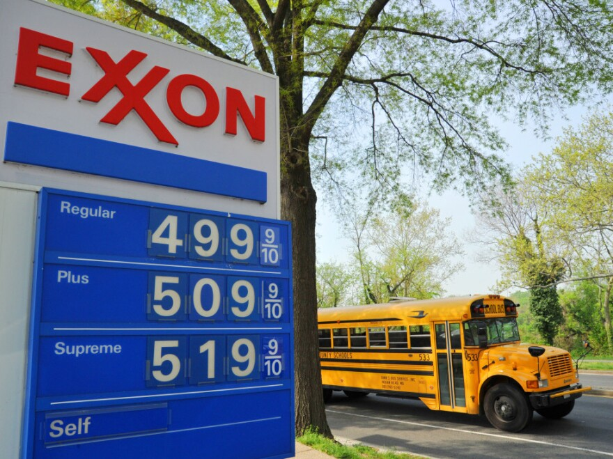 The $5 price point had already been reached Wednesday at a station in Washington, D.C.