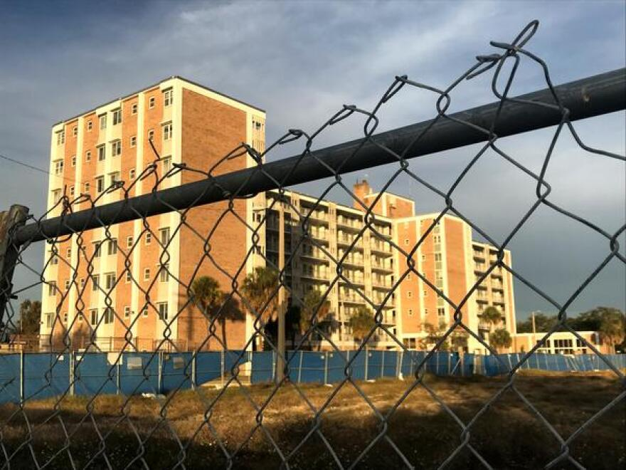 The vacant Mary Bethune High Rise Apartments will be renovated as part of the West River Redevelopment Plan.