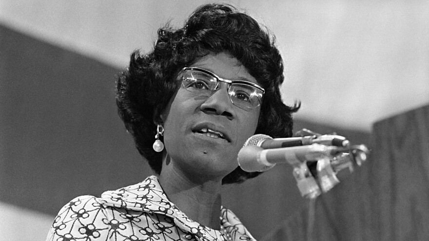 Rep. Shirley Chisholm, during her 1972 bid for the Democratic presidential nomination.