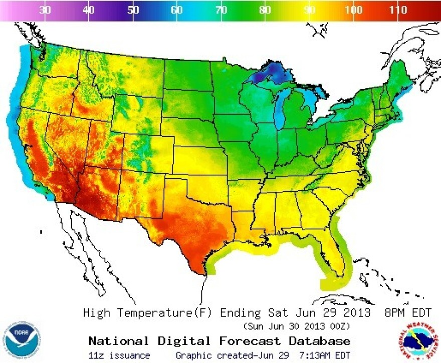 If you're in the red or orange zones, try to stay cool.