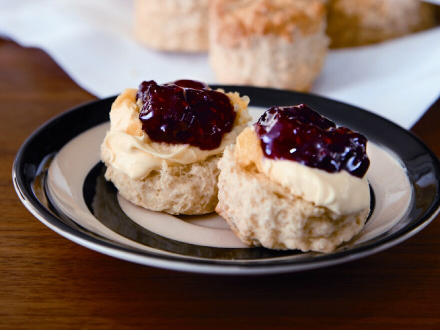 "<strong><a href=""http://www.npr.org/templates/story/story.php?storyId=135735845#scones"">Recipe: Buttermilk Scones and Jumbleberry Jam</a></strong>"