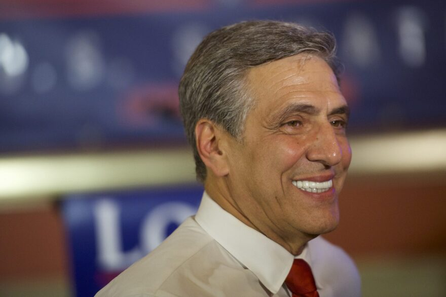 U.S. Congressman Lou Barletta (R-Penn.) gives an interview with the media after his victory in the 2018 Pennsylvania Primary Election for U.S. senator on May 15, 2018 in Hazleton, Penn. (Mark Makela/Getty Images)