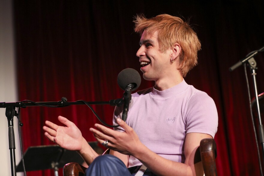 Julio Torres appears on <em>Ask Me Another</em> at the Bell House in Brooklyn, New York.