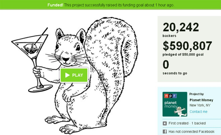 Our Kickstarter campaign to fund our t-shirt project raised over $590,000.
